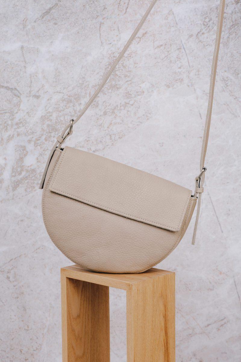 handmade leather shoulder bag bodil