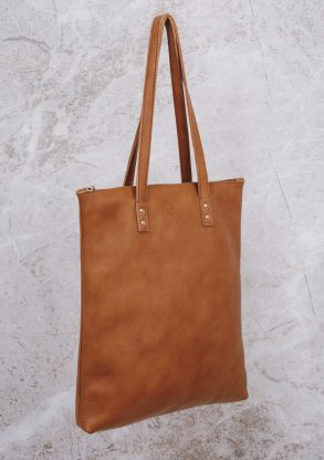 handmade shopper with zipper mae