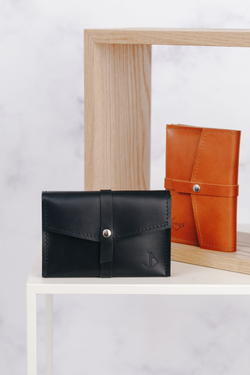 handmade leather wallet mila