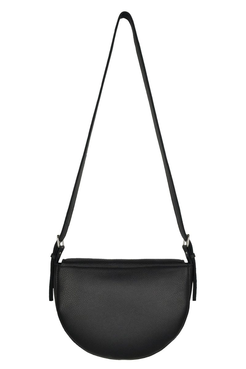 handmade leather shoulder bag bodil charcoal back