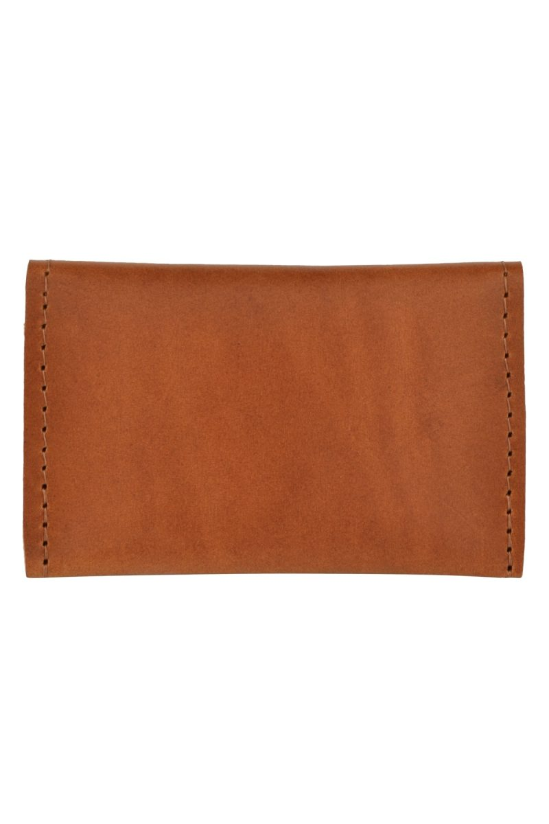 leather card holder bowie rust back