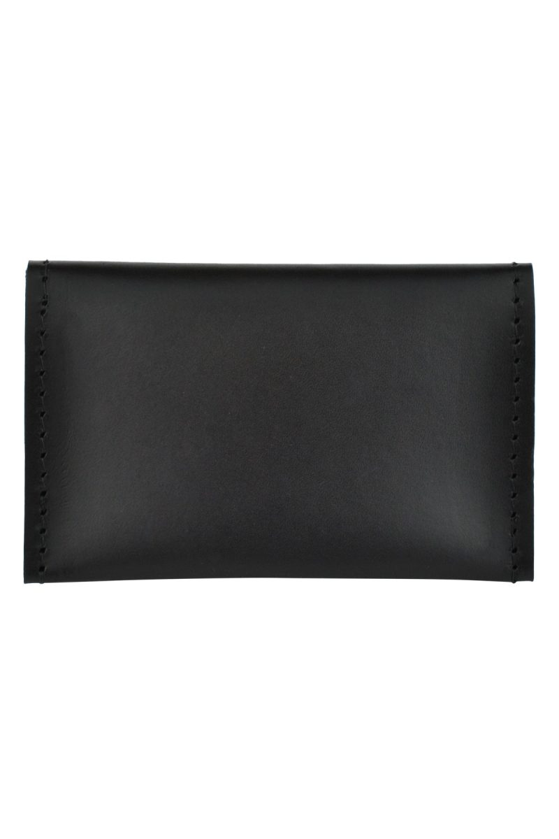 leather card holder bowie onyx back