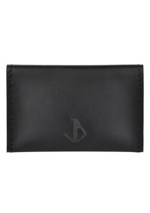 leather card holder bowie onyx front