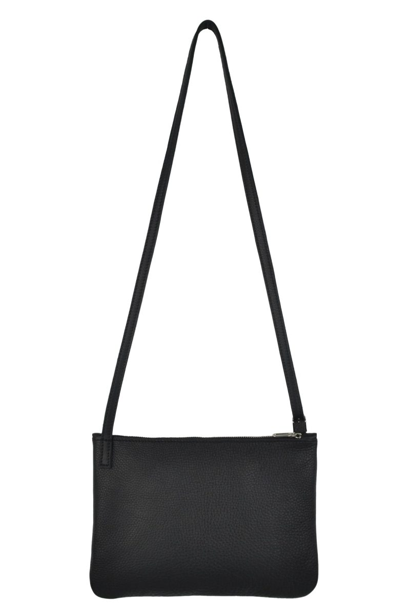 small leather shoulder bag evy charcoal back