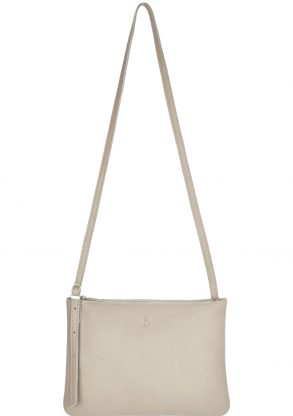 small leather shoulder bag evy moon front