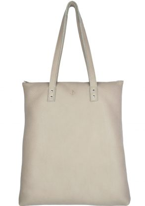 handmade leather shopper mae moon front