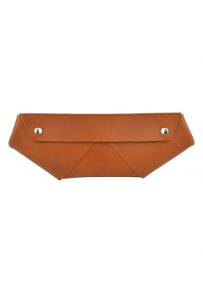 handmade leather case ruby rust front