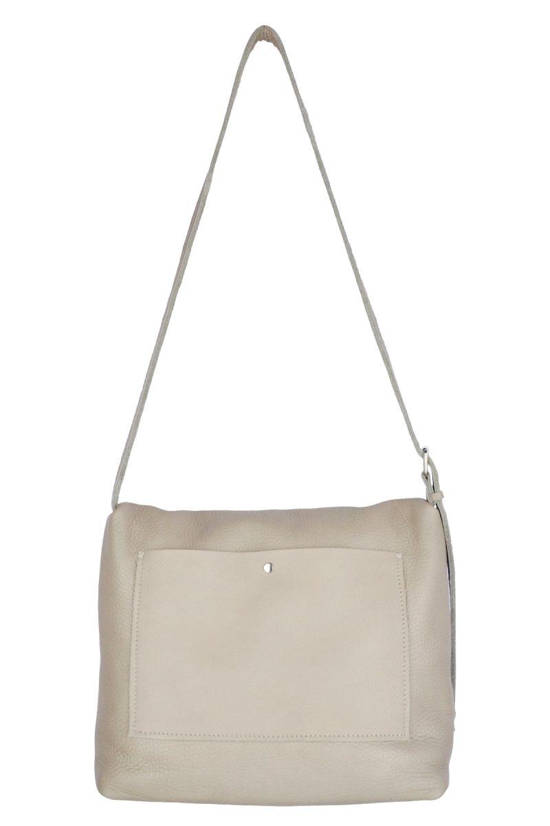 handmade leather shoulder bag viq moon back