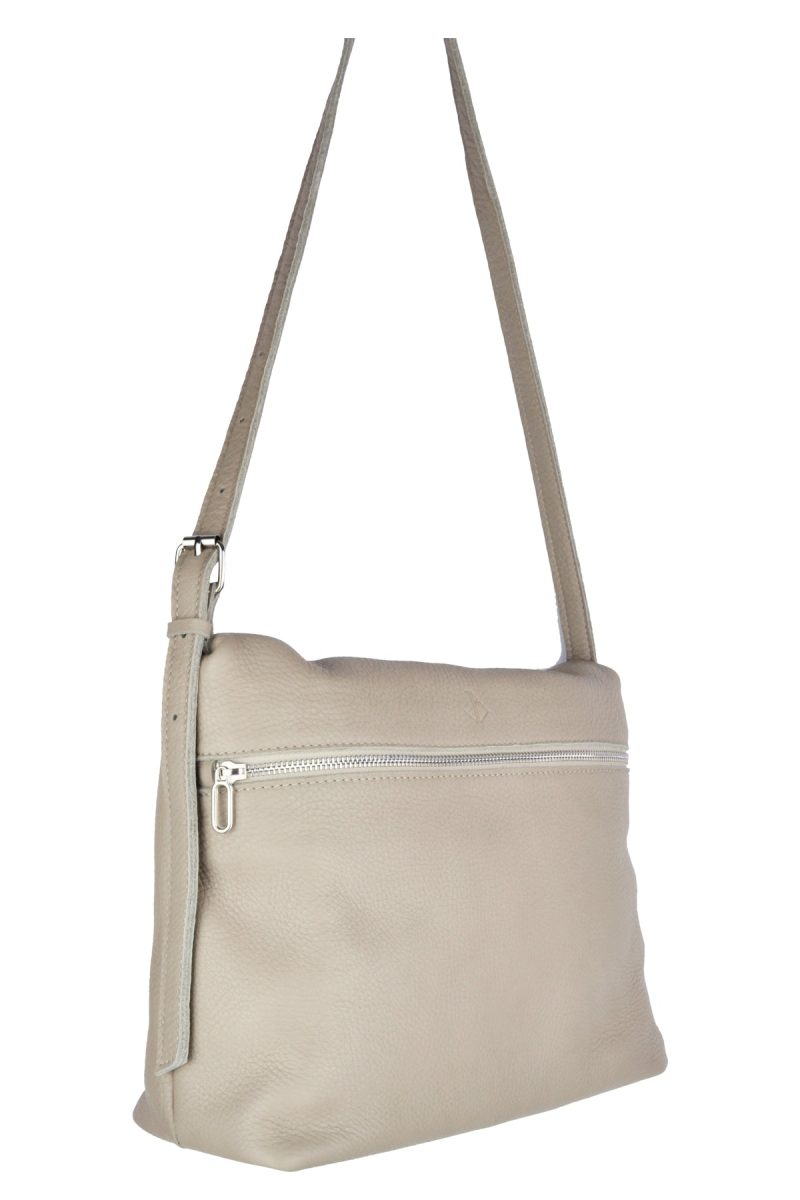 handmade leather shoulder bag viq moon side